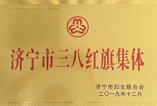 济宁市三八红旗集体荣誉证书